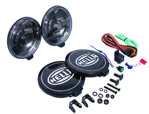 Hella 500 Series 12V Black Magic Halogen Driving Lamp Kit