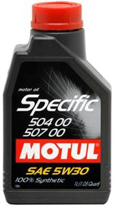 Motul OEM Synthetic Engine Oil Specific 504 00 507 00 - 5W30