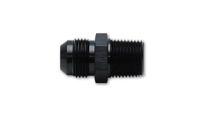 Vibrant 10227 Straight Adapter Fitting Size -12 AN x 1/2in NPT