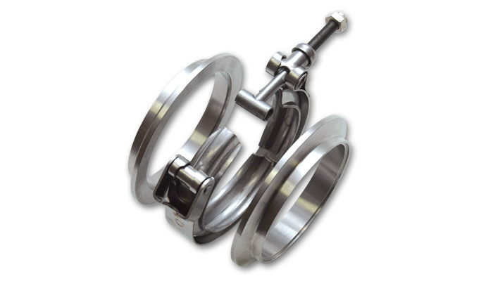 Vibrant Aluminum V-Band Flange Assembly for 2 Inch O.D. Tubing