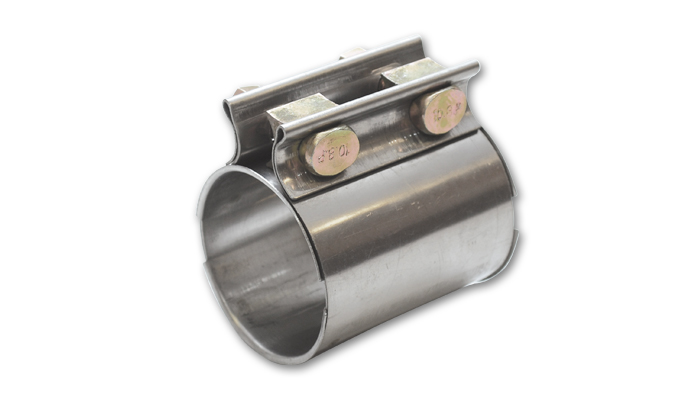 Vibrant TC Series High Exhaust Sleeve Clamp for 3.5in O.D. Tub.