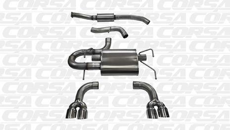 Corsa 14862 Cat-Back for 2011-2013 Subaru Impreza WRX