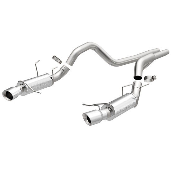 BBK Ford Mustang Shorty Unequal-Length Headers - Silver Ceramic
