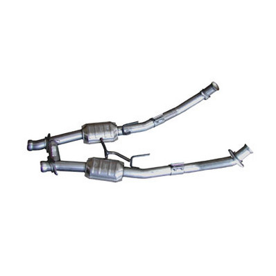 BBK 86-93 Ford Mustang 5.0L 2.5 Inch H-Pipe with Converters Use