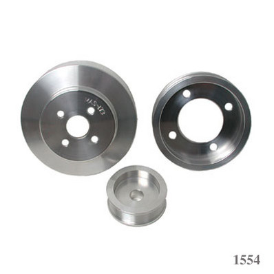 BBK 94-95 Ford Mustang 5.0L 3 PC Underdrive Pulley Kit - Alumin.