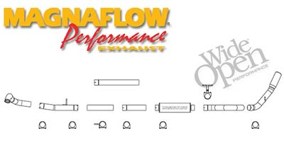 MagnaFlow Performance Exhaust Kit 99-03 Ford F-Series 7.3L 4in