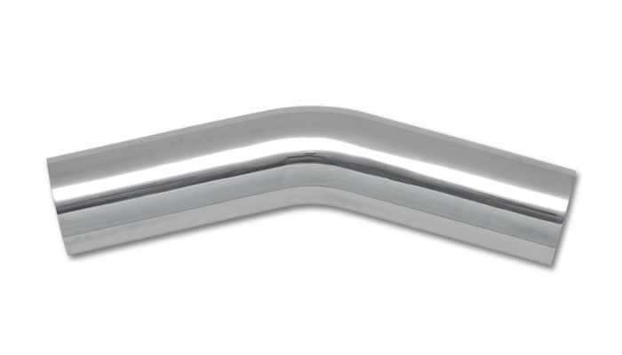 Vibrant 1.5 Inch O.D. Aluminum 30 Degree Bend - Polished