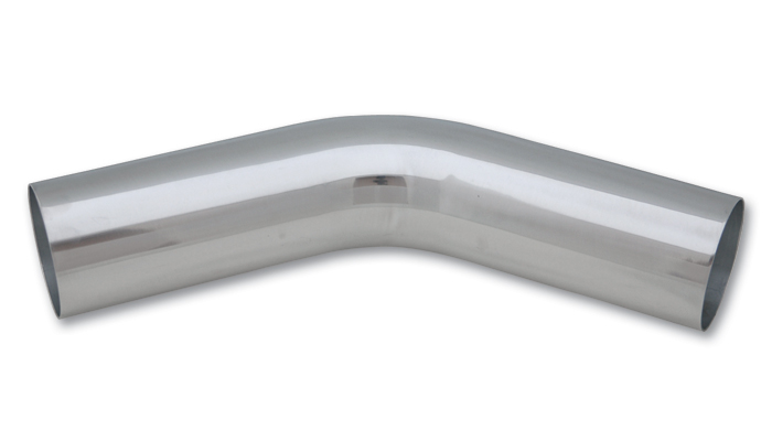 Vibrant 1.5 Inch O.D. Aluminum 45 Degree Bend - Polished