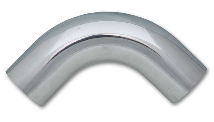 Vibrant 1.5 Inch O.D. Aluminum 90 Degree Bend - Polished