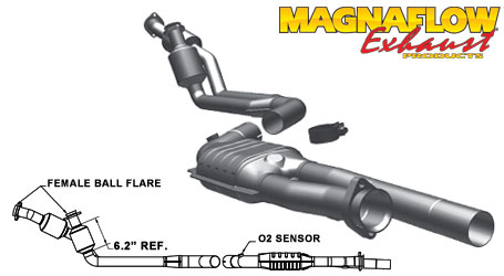 MagnaFlow 23833 Direct-Fit Catalytic Converter for Mercedes-Benz