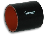 Vibrant 4 ply Silicone Sleeve 1.25 Inch I.D. x 3 Inch Long-Black
