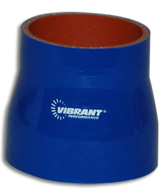 Vibrant 4 Ply Reducer Coupling 2 x 2.5 x 3 Inch Long - Blue