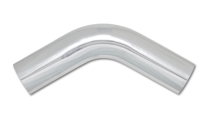 Vibrant 2.25 Inch O.D. Aluminum 60 Degree Bend - Polsihed