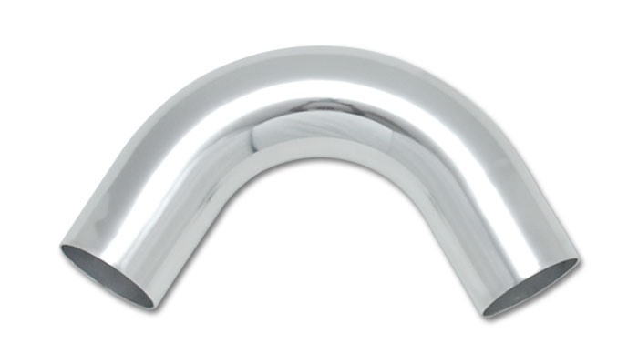 Vibrant 2.5 Inch O.D. Aluminum 120 Degree Bend - Polished