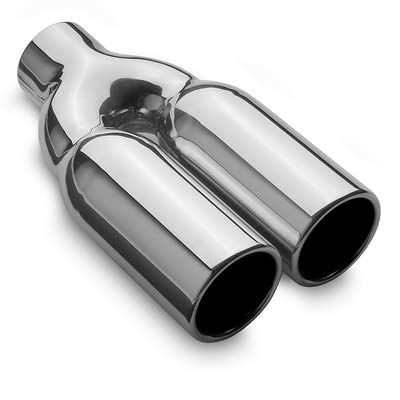 MagnaFlow Performance Stain. Steel Exhaust Tip Dual RND 3x10 2.2
