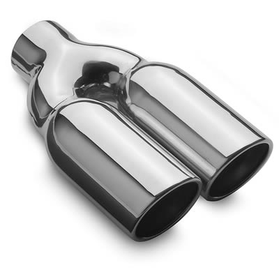 MagnaFlow Performance Stain.Steel Exhaust Tip Dual RND 3x10 2.25