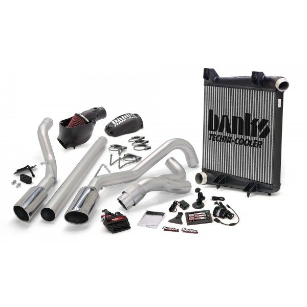 Banks Power 46658-B Dual Exh Big Hoss Bundle for 08-10 Ford 6.4L