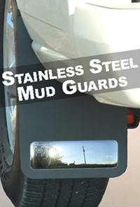 Husky 54341 Stainless Mud Guards - Black