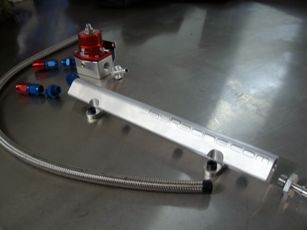 Jay Racing Fuel Rail w/ FPR & Pump Mazda Protege MP3 Mazdaspeed
