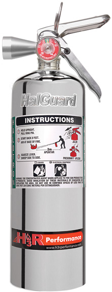 H3R Performance HG500C Chrome Clean Agent Fire Extinguisher