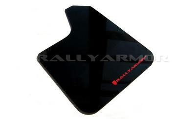 Rally Armor Universal fitment Urethane Blk Mud Flap w/ Red Logo