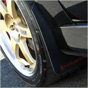 03-06 Evolution 8 & 9 Rally Armor Mud Flaps Black w/ Red Logo