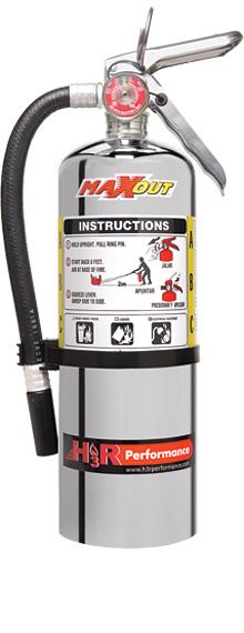 H3R Performance MX500C Chrome Dry Chemical Fire Extinguisher