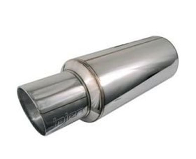 Injen 3.00 Universal Muffler with Steel Resonated Rolled Tip