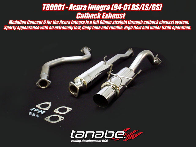 `Tanabe Concept G Cat Back Exhaust for 94-01 Acura Integra 2 Doo