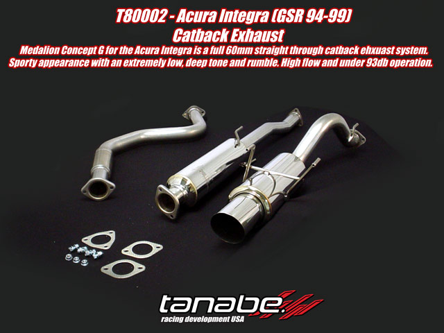 Tanabe Concept G Cat Back Exhaust for 94-99 Acura Integra GSR