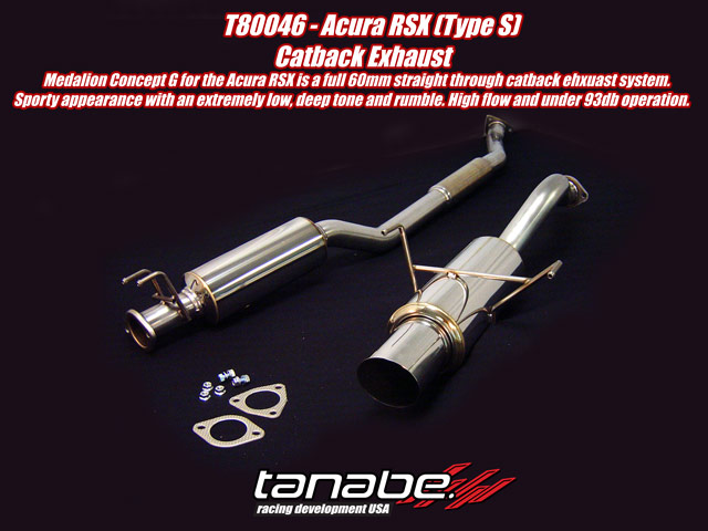 Tanabe Concept G Cat Back Exhaust for 02-06 Acura RSX Type S