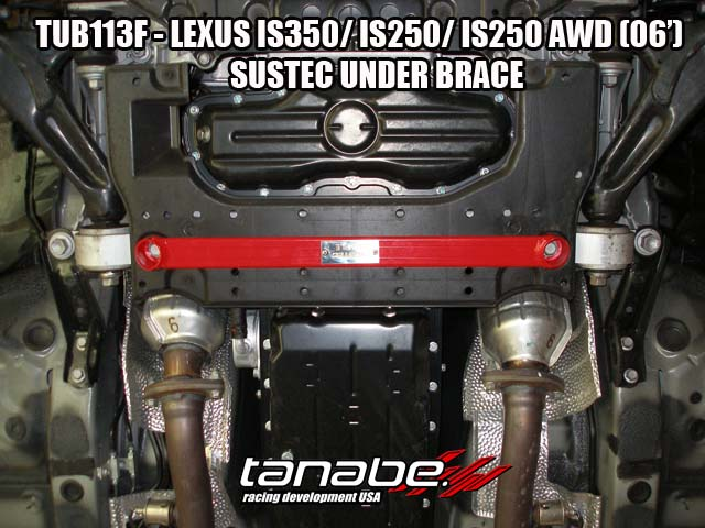 Tanabe Under Brace Chasis for 06-11 Lexus IS350 - Front