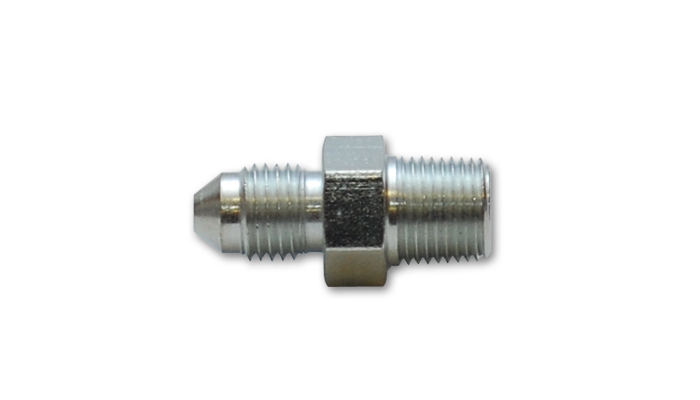 "Vibrant -3AN to 1/8"" NPT straight adapter fitting - Steel"