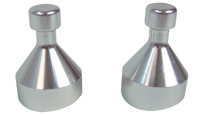 Vibrant Stainless Steel Weld Tabs for Boost Brace - Pack of 2