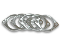"Vibrant 2-Bolt T304 Stainless Steel Exhaust Flanges (4"" I.D.)"