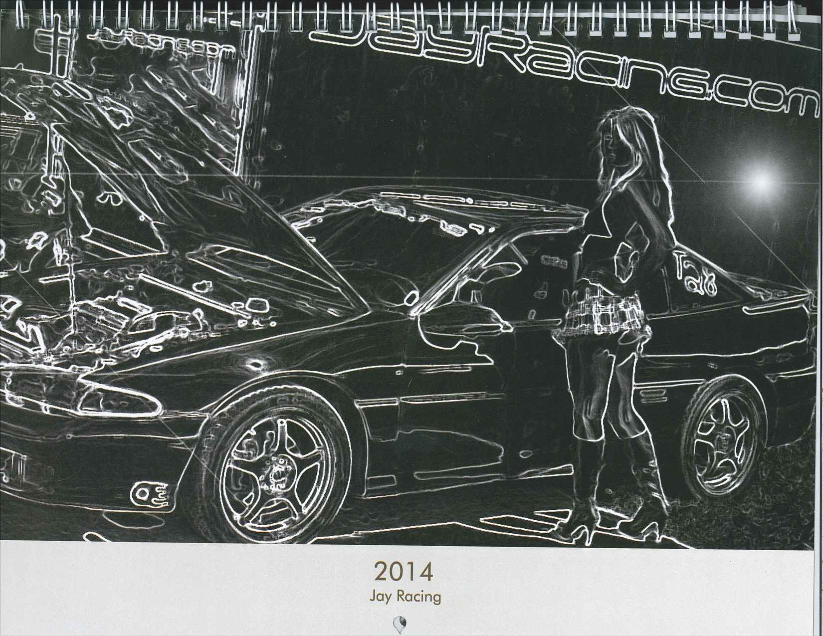 2014 Jay Racing Calendar DIY