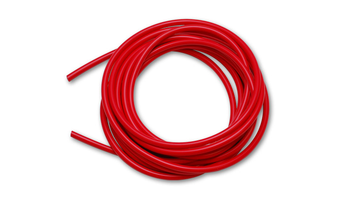 "Vibrant 5/32"" (4mm) I.D. x 50 ft. of Silicon Vacuum Hose - Red"