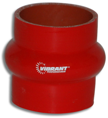 "Vibrant 4 Ply Hump Hose Connector - 2"" I.D. x 3"" long (RED)"
