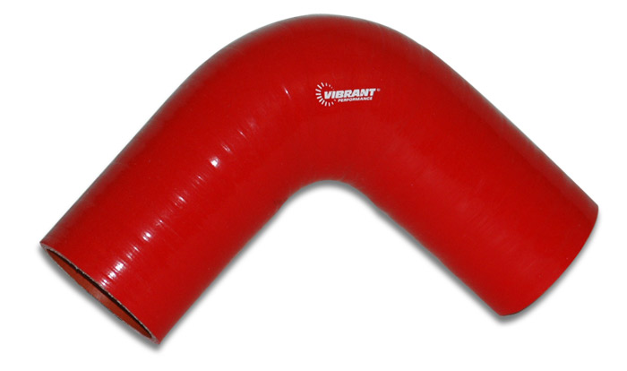 "Vibrant 4 Ply 90 deg. Elbow Connector - 3"" I.D. - (RED)"