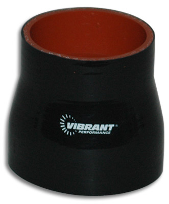 "Vibrant 4 Ply Reducer Coupling - 1.5"" I.D. (BLACK)"