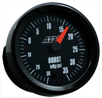 AEM Boost Gauge -30 to 35PSI with Analog Face