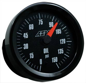 AEM Oil Pressure Gauge 0-150PSI with Analog Face