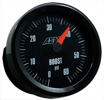 AEM Boost Gauge 0 to 60PSI with Analog Face