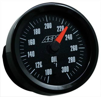 AEM Oil/Transmission/Water Temperature Gauge with Analog Face