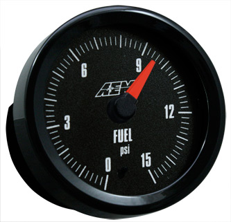 AEM Fuel Pressure Gauge 0-15PSI with Analog Face