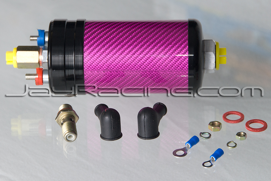 Jay Racing Pro Series Carbon 044 Fuel Pump Pink/Black
