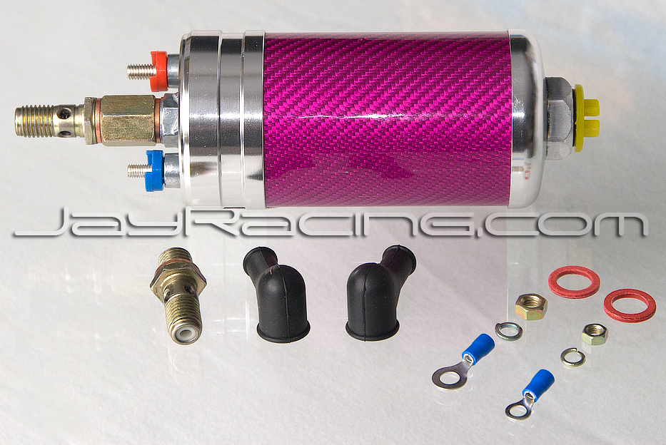 Jay Racing Pro Series Carbon 044 Fuel Pump Pink/Silver