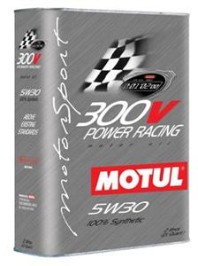 "Motul 300V 5w30 100% ""Power Racing"" (12/C) 2L bottle"
