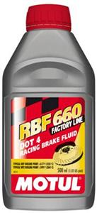 "Motul RBF660 ""DOT4"" 100% Synthetic Brake Fluid (12) 1/2L Bottles"