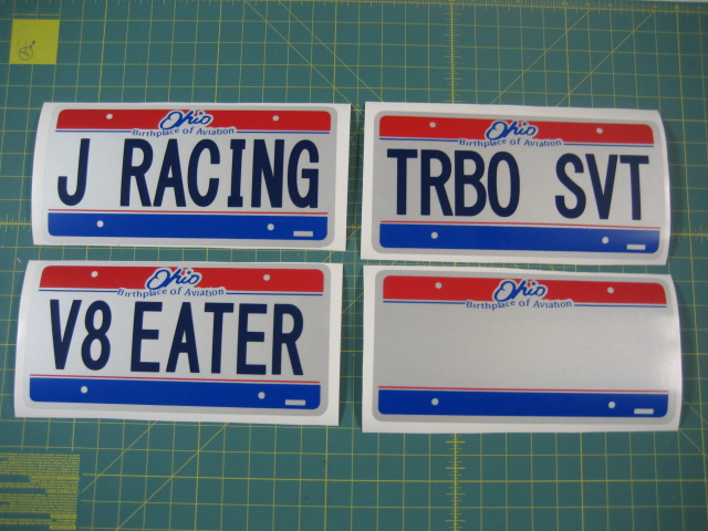 Jay Racing Front License Plate Sticker - Ohio